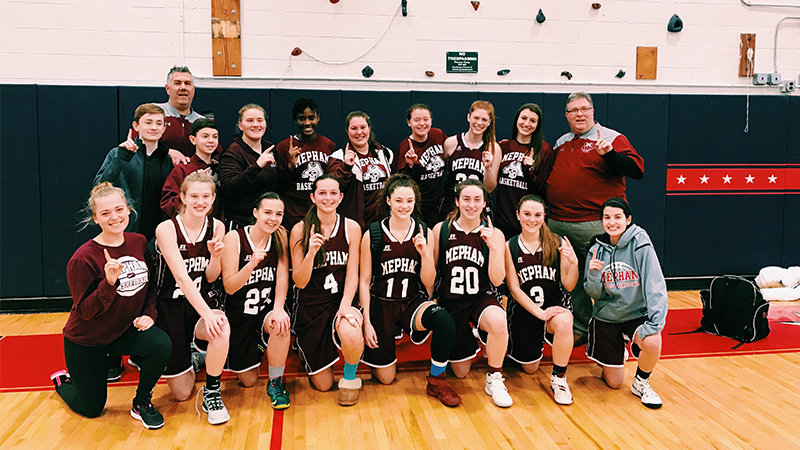 Mepham Girls Basketball Finishes Season Undefeated