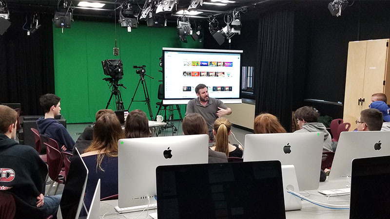 Bellmore-Merrick Broadcasting Students Learn from Filmmaker