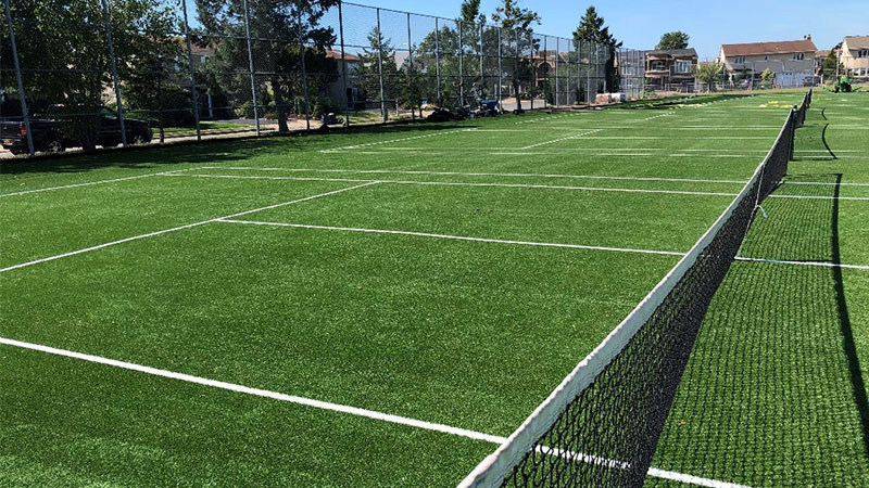 Kennedy Debuts Turf Tennis Courts