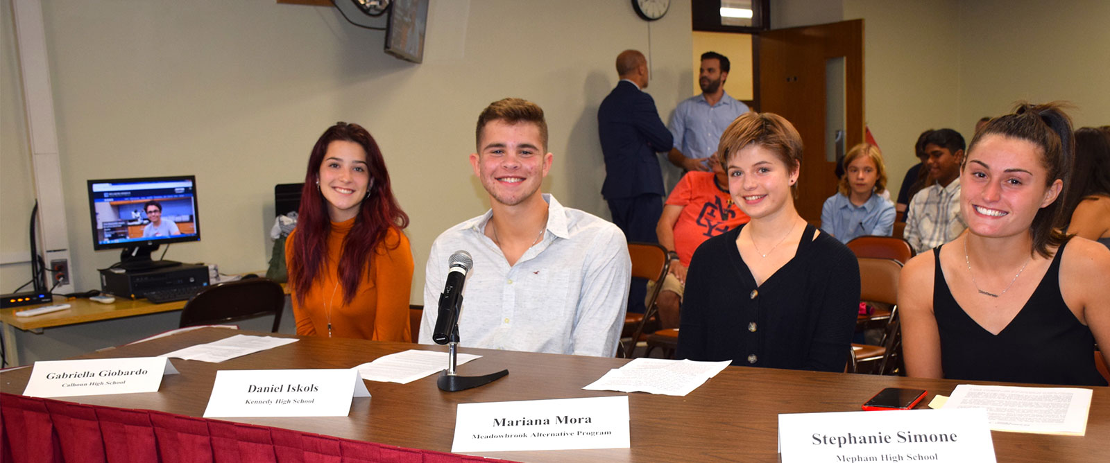 Students Serve as School Reporters to Board photo