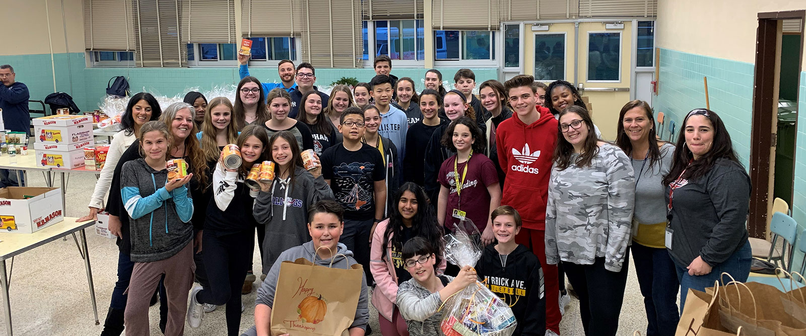 Students Join Together to Create 75 Thanksgiving Basketsphoto