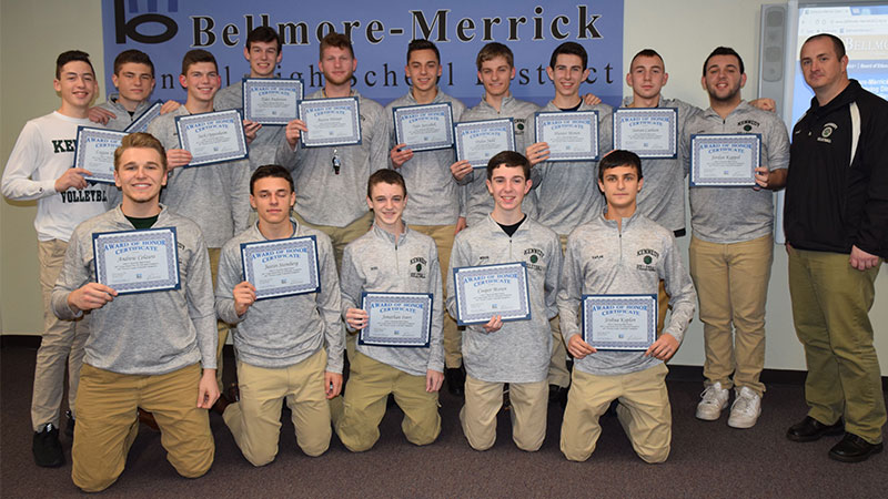 Board Honors Kennedy Boys Volleyball Named LI Champs