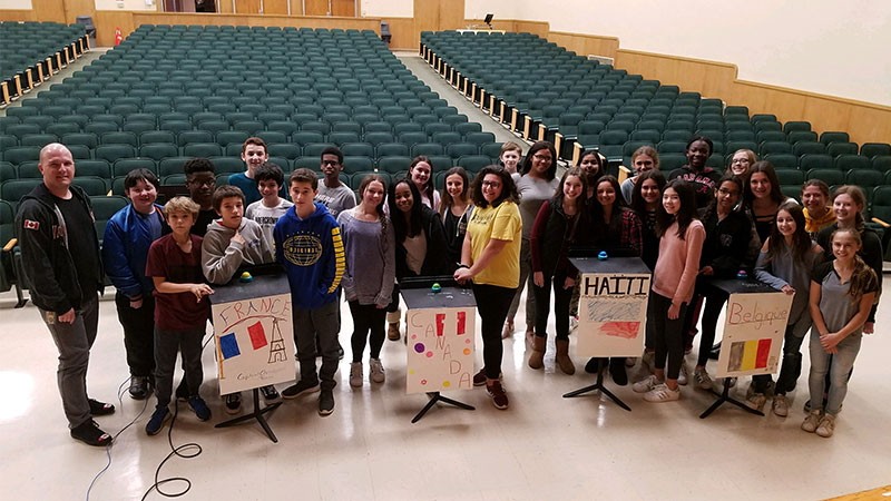 Middle Schools Celebrate National French Week